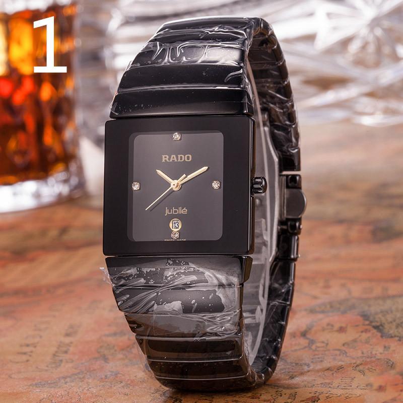 f89a9846d00 Compre Novo Mens Relógios Gentalmen Marca De Luxo Relógios De Moda Feminina  Relógio De Pulso De Couro Preto Quadrado Dial Feminino Relogio Montre Femme  ...
