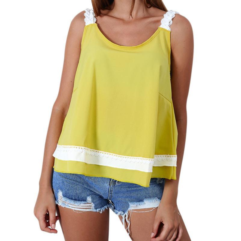 1fe3412c26482 2019 2018 Tank Top Women Bow Lace Solid Green Pink Yellow Cami Women Tops  Sexy Backless Casual Sexy Cute Fashion O Neck Female Blouse From Moussy