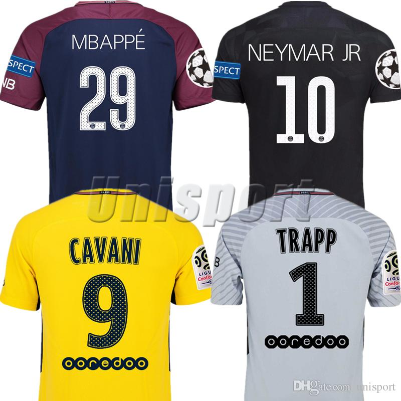 more photos 9d675 71aa4 2017/18 Psg Home Away Third Soccer Jerseys Neymars Mbappe Cavani Futbol  Camisetas Football Germain Shirt Saint Kit Paris Maillot