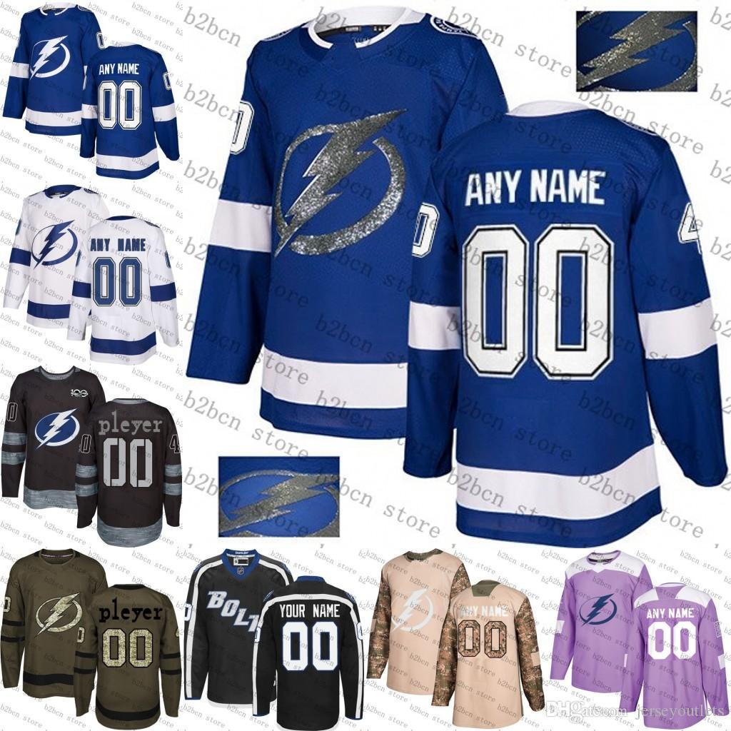 official photos 6aa08 23744 2018 Custom Mens Women Youth Tampa Bay Lightning Victor Hedman Brayden  Point Nikita Kucherov Steven Stamkos Hockey Jersey size S-3XL