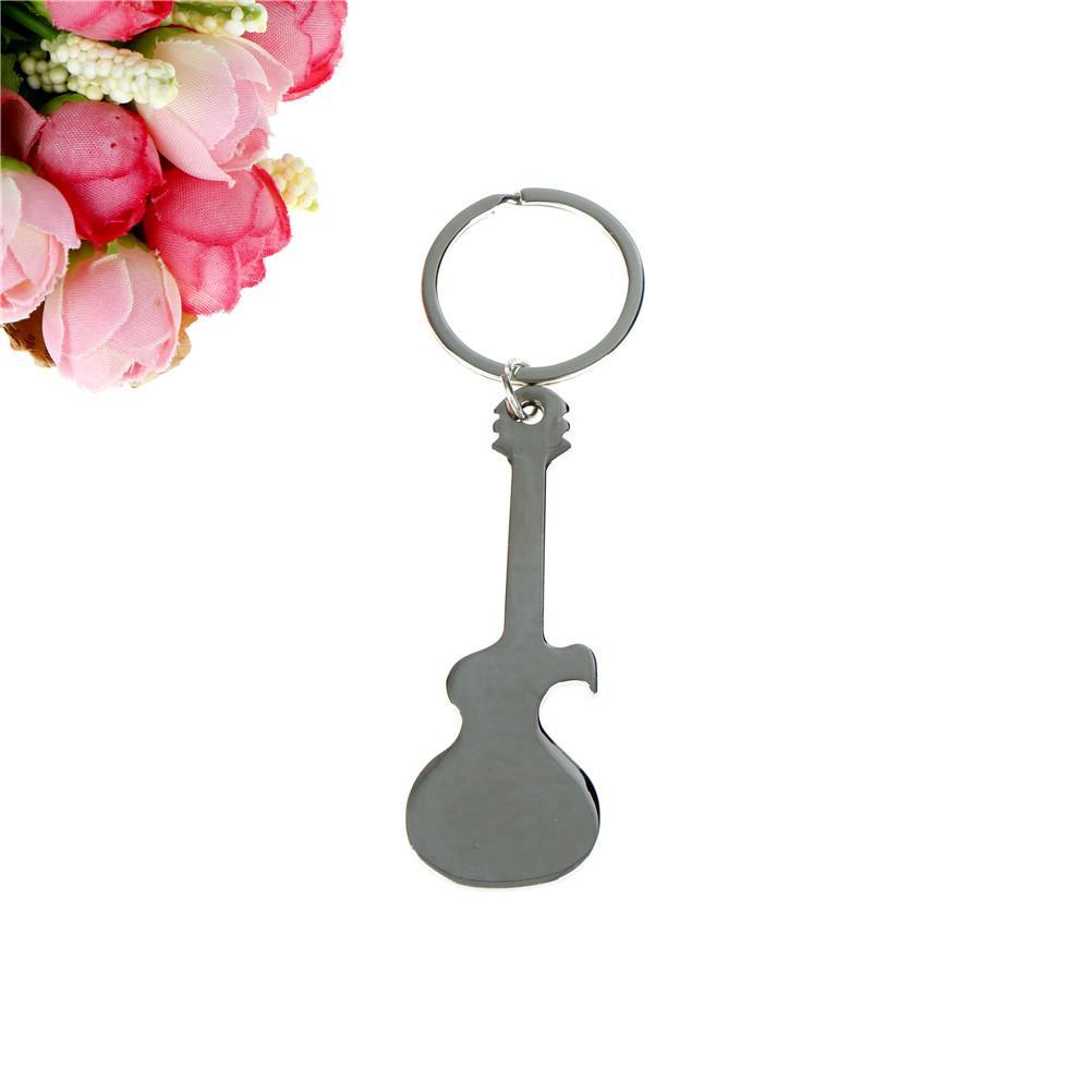 Beer Bottle Opener Ornament Keyring Keyholder Women Men Metal Guitar ... f6c4cef24