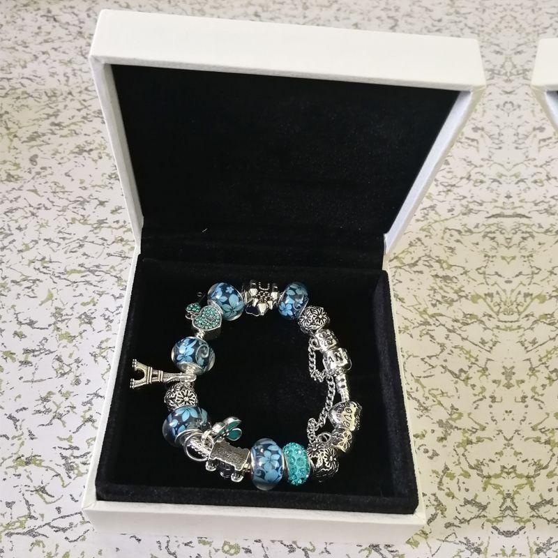 Neue versilberte pandora armbänder für frauen royal charm armband rosa kristall perlen diy liebe armbänder armreifen mit logo 18 19 20 21 cm