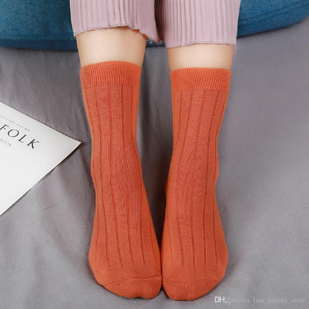 Chaussettes femme 99% coton es / Chaussettes de couleur au hasard