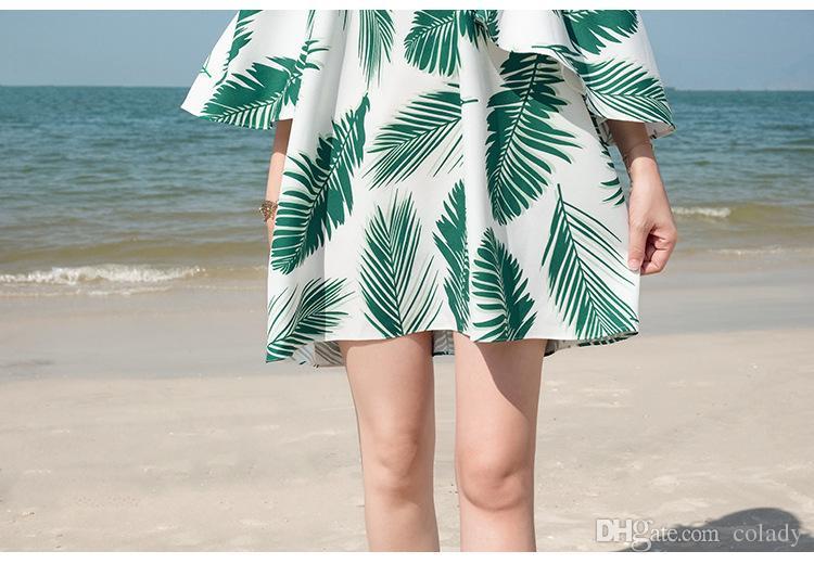 2018 лето новый сексуальная печать труба рукав обернутый груди без бретелек платье женский отпуск короткий пункт пляж юбка