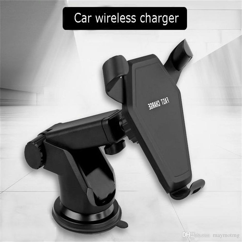 NEW Charger car gravity mobile phone bracket wireless charger QI apple/samsung wireless charger for mobile phone
