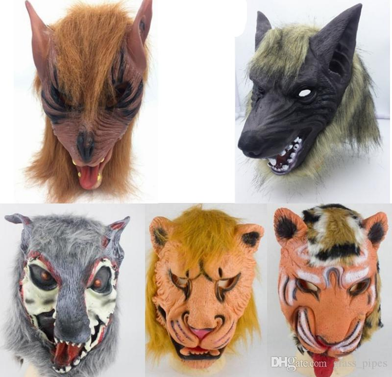 1PC Halloween Costume Horror Latex Wolf Head Face Mask Party Cosplay Props Decor