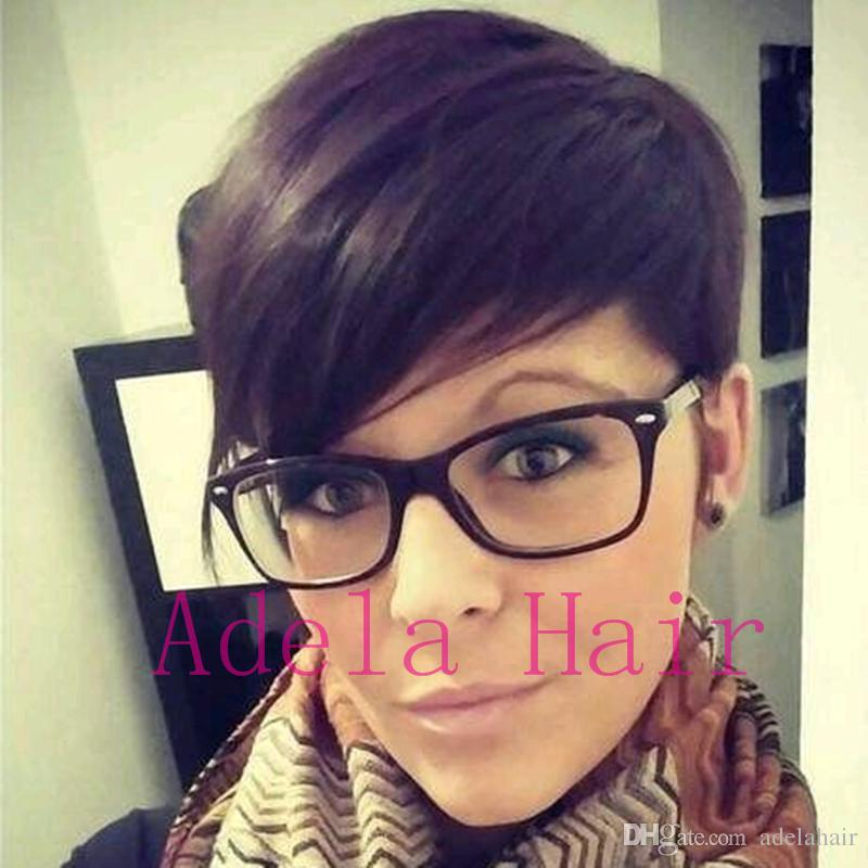 2018 Pixie Cut New Hairstyles Human Hair Wigs Full Lacelace Front