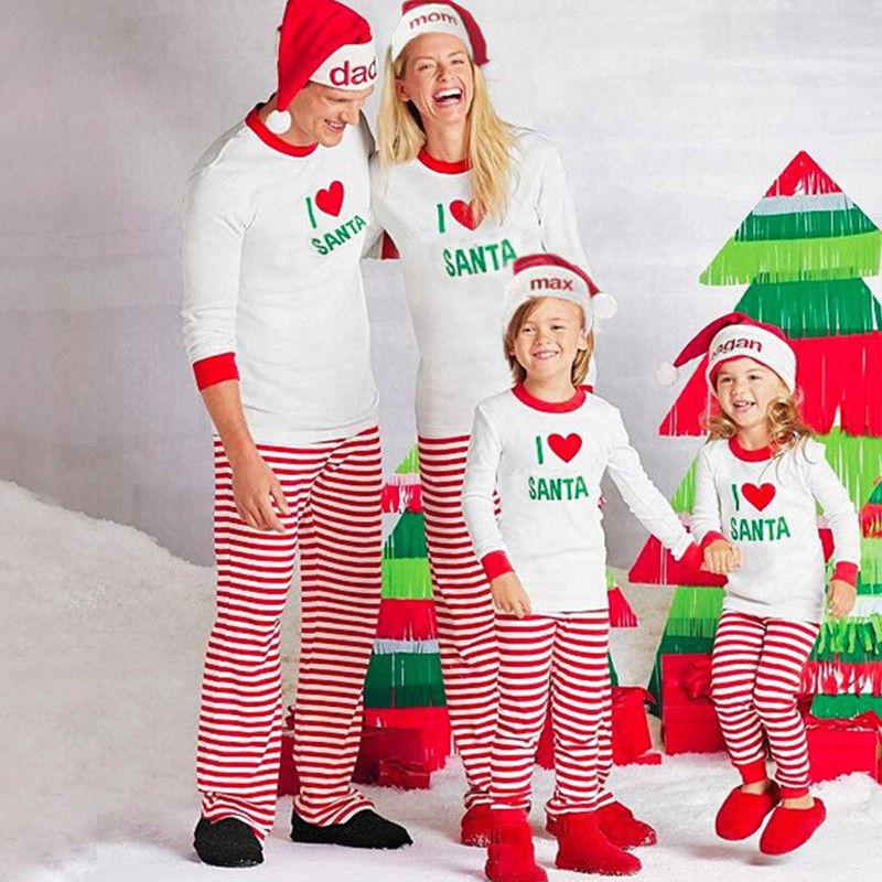 ae5da274d0 Family Matching Christmas Pajamas Sets 2017 New Arrival Fashion PJs Sets  Xmas Sleepwear Nightwear Romper Outfits Family Clothing Really Bad Family  Photos ...