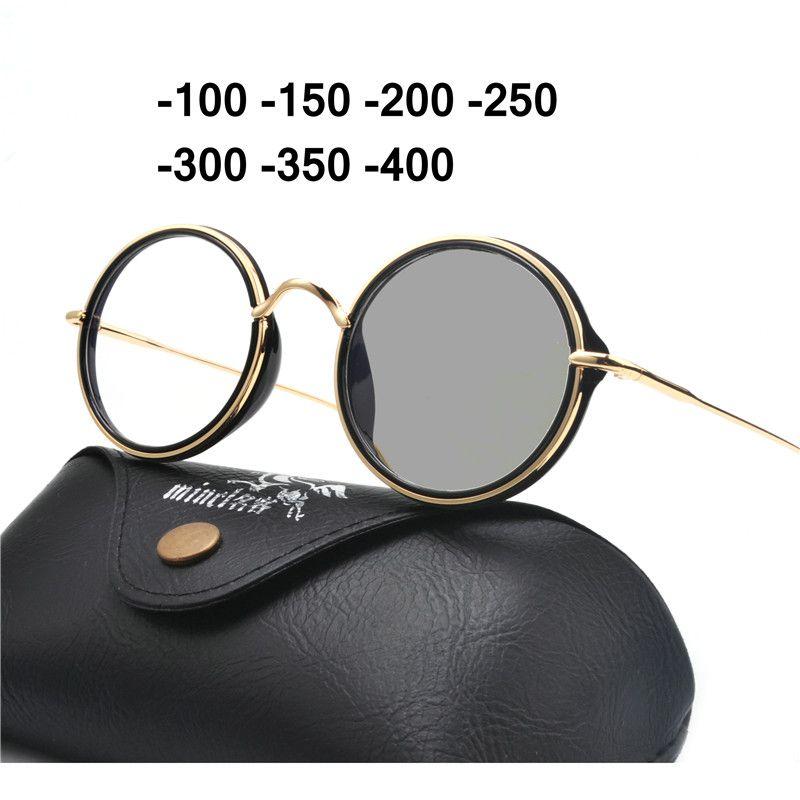 6b9387020a 2018 Round Alloy Sun Photochromic Myopia Eyeglasses Optical Men ...
