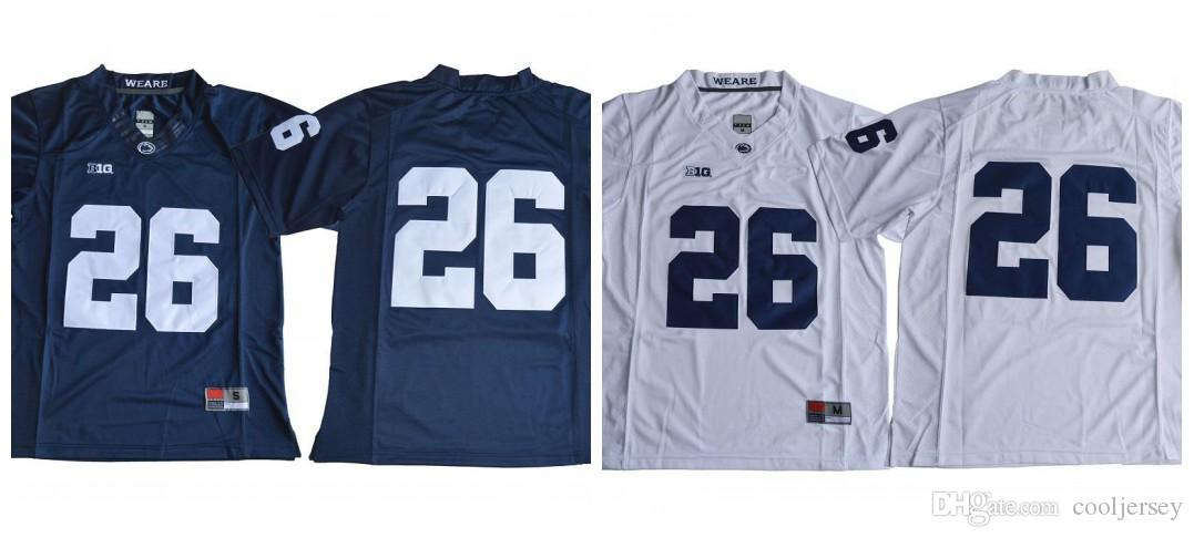 sports shoes 741f5 31254 26 Saquon Barkley 2017 Penn State Nittany Lions College Football Jersey  Navy Blue White Stitched S-XXXL Mixed Order
