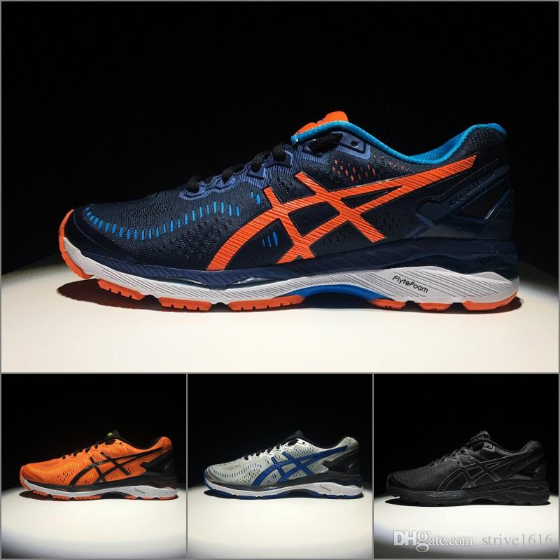 wholesale dealer ac94b 33bf5 2018 Asics Hot Sale GEL-KAYANO 23 Men Running Shoes 100% Original Cheap  Jogging Sneakers Lightweight Sports Shoes Size 40.5-45