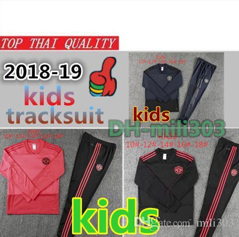 Compre 18 19 Manchester United Treino De Crianças Survetement POGBA Kit De  Treinamento De Futebol UTD 2018 19 LUKAKU IBRAHIMOVIC Treino De Futebol  Infantil ... 7da80298095cc
