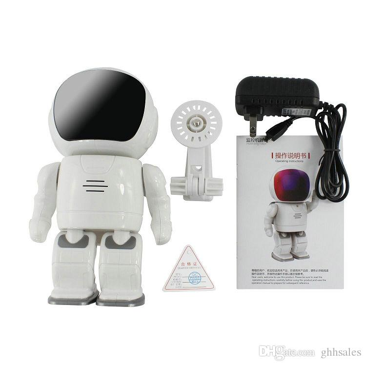 2018 New Designed Cute Robert Style PTZ Control HD 960P 1.3MP Baby Monitor WIFI Surveillance Intelligent Security Robot IP Cameras