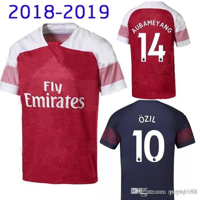 Calidad Aaa Arsenal 2018 19 Camiseta De Fútbol Ozil Lacazette Alexis Giroud  Xhaka Camiseta De Fútbol Aubameyang Maillot Foot Football Shirt Uniforms  Por ... 8464a7e3028d5