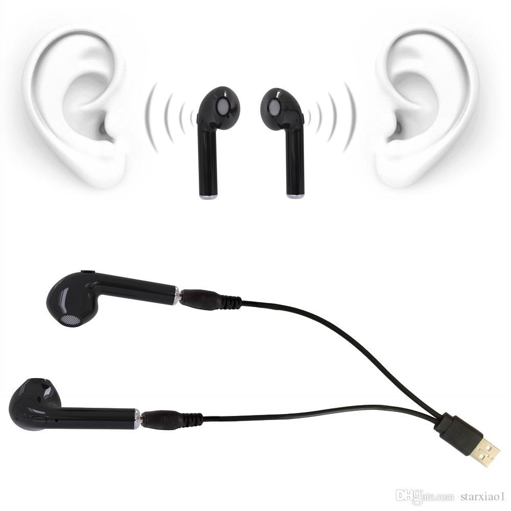 I7 I7S TWS Zwillinge Mini Bluetooth Ohrhörer Wireless Invisible Kopfhörer Headset mit Mikrofon CSR4.1 Stereo Bluntooth Kopfhörer für Iphone X Note 8