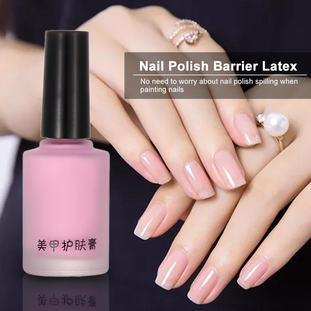 Nail Latex White /Pink Pell Off Tape Paint Gellak Stamping Enamel ...