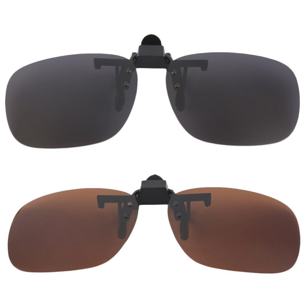 68eabc2768 Polarized Clip On Sunglasses UV 400 TAC Plastic + Metal Clip On Flip Up  Driving Glasses Lens Black Brown Color Sunglasses 2018 Prescription  Sunglasses ...