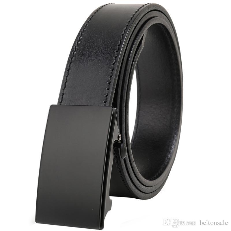 e6a197c4f064 Men S Top Grain Bridle Leather Dress Belt No Ratchet Automatic Buckle 1 3 8 Designer  Belt Cassic Belts For Men Ceinture Judo Belts Cheap Designer Belts From ...