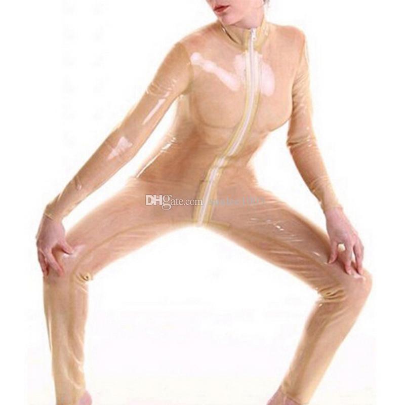 2018 Nuove donne femminili fatte a mano esotiche calde Sexy Catsuits del lattice vestito pieno Uniforme di Fetish costumi stretti della biancheria Multi-colore facoltativo