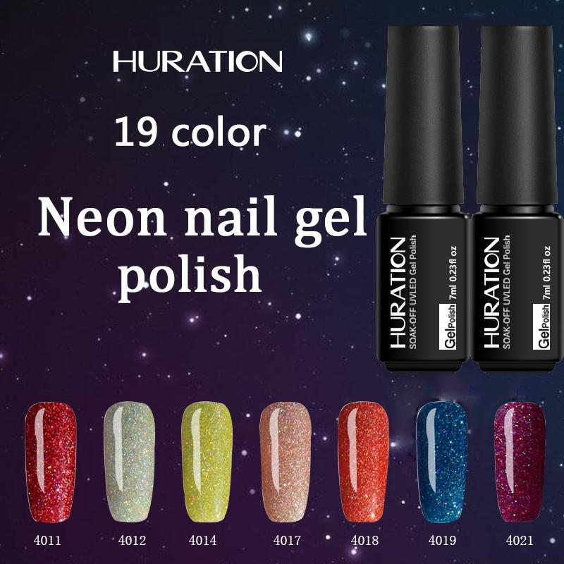 Huration 7ml Fashion Series Neon Nail Gel Polish Soak Off UV LED ...