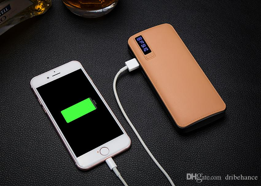 New style 20000mAh Power Bank 3USB External Battery Portable Power Bank Charger with LED light For iPhone 8 X Samsung s8 universal