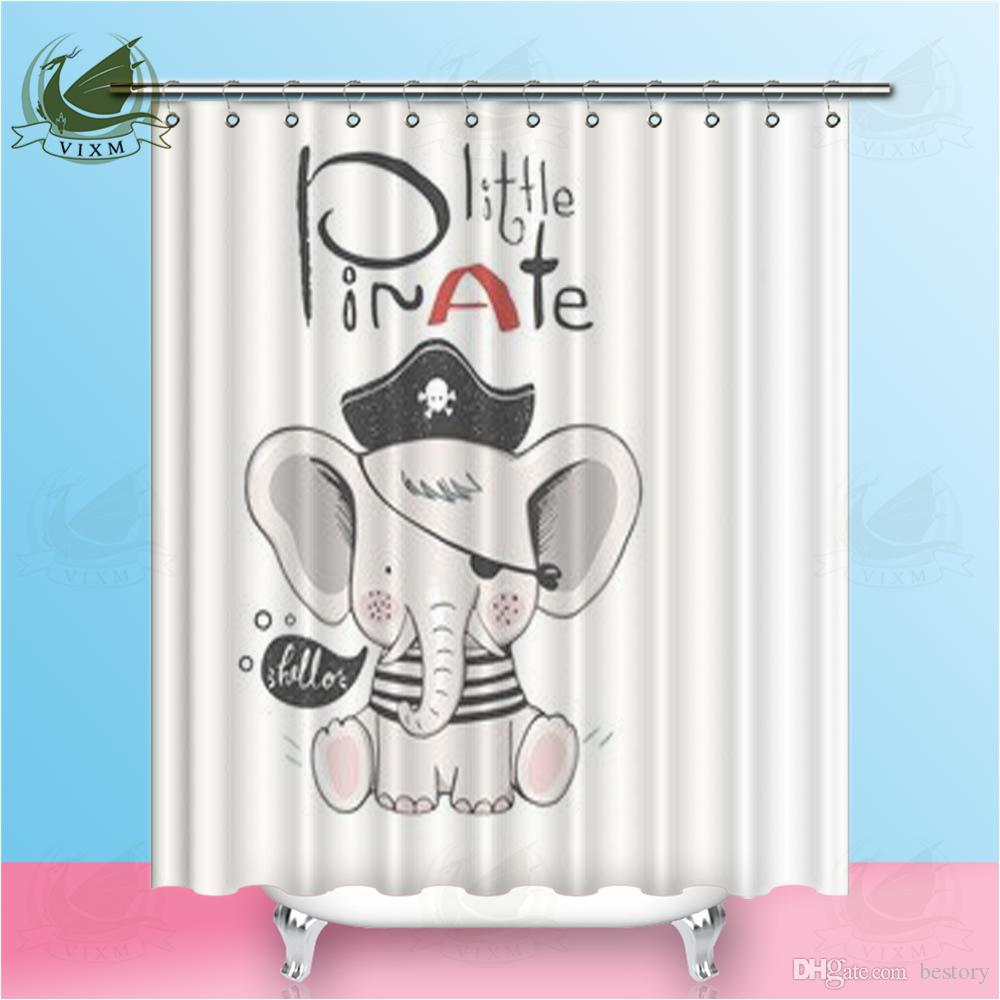 Vixm Home The Ocean Of Elephants Shower Curtain