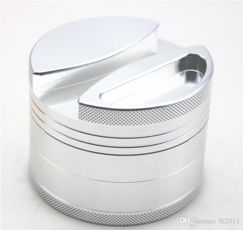 New four layer aluminum alloy cigarette lighter 75MM personalized creative metal grinder smoke cutter