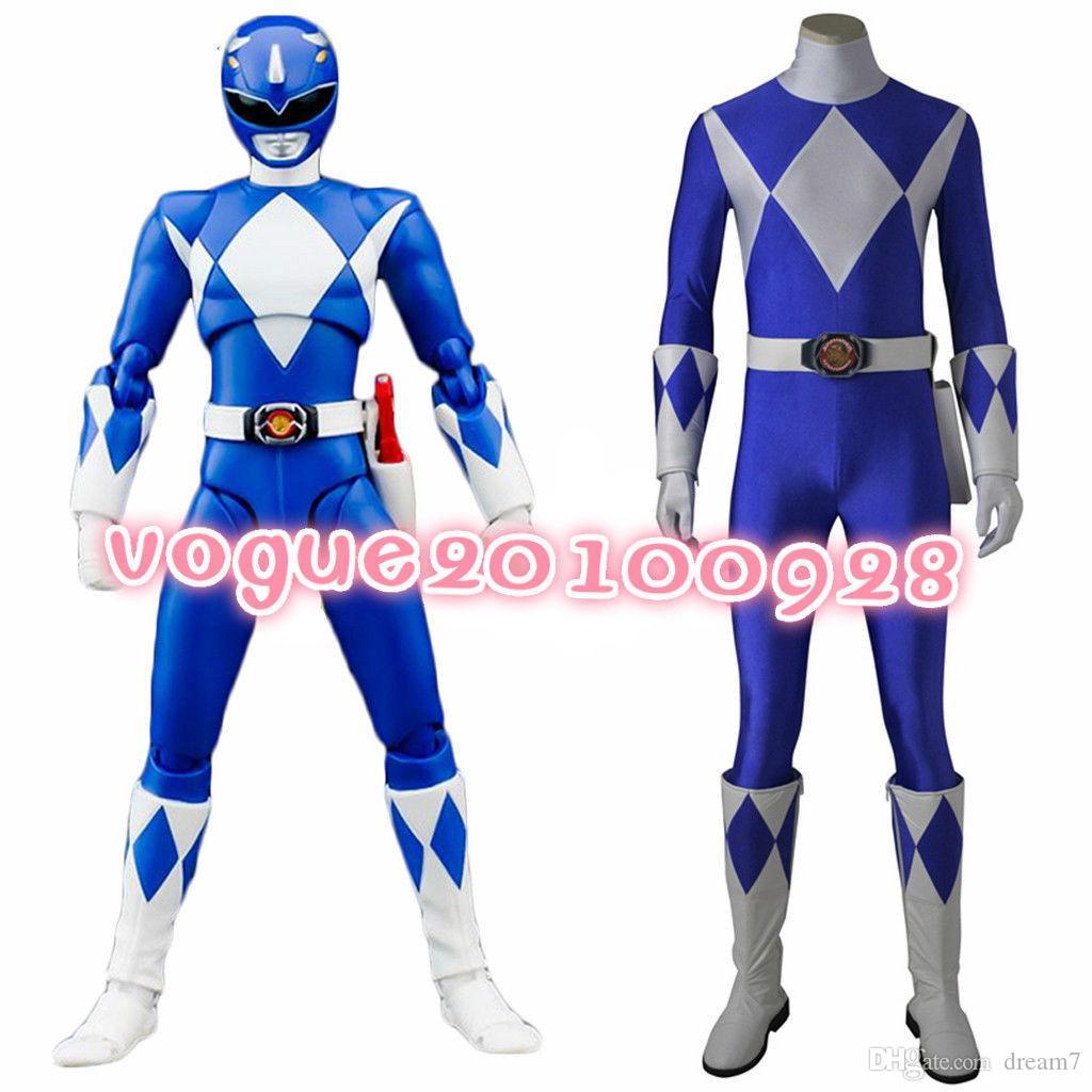 Anime Mighty Morphin Power Rangers Cosplay Blue Ranger Cosplay