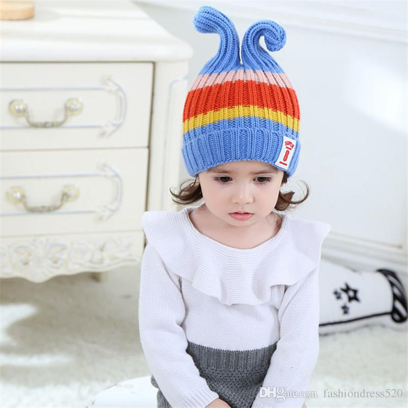 0cc6a262db090 2019 Rabbit Ear Baby Hat Child Winter Hat For Boy Girls Baby Girl Hats  Winter Warm Knitted Hat For Baby Infant Bunny Beanies DHL Shipment From ...