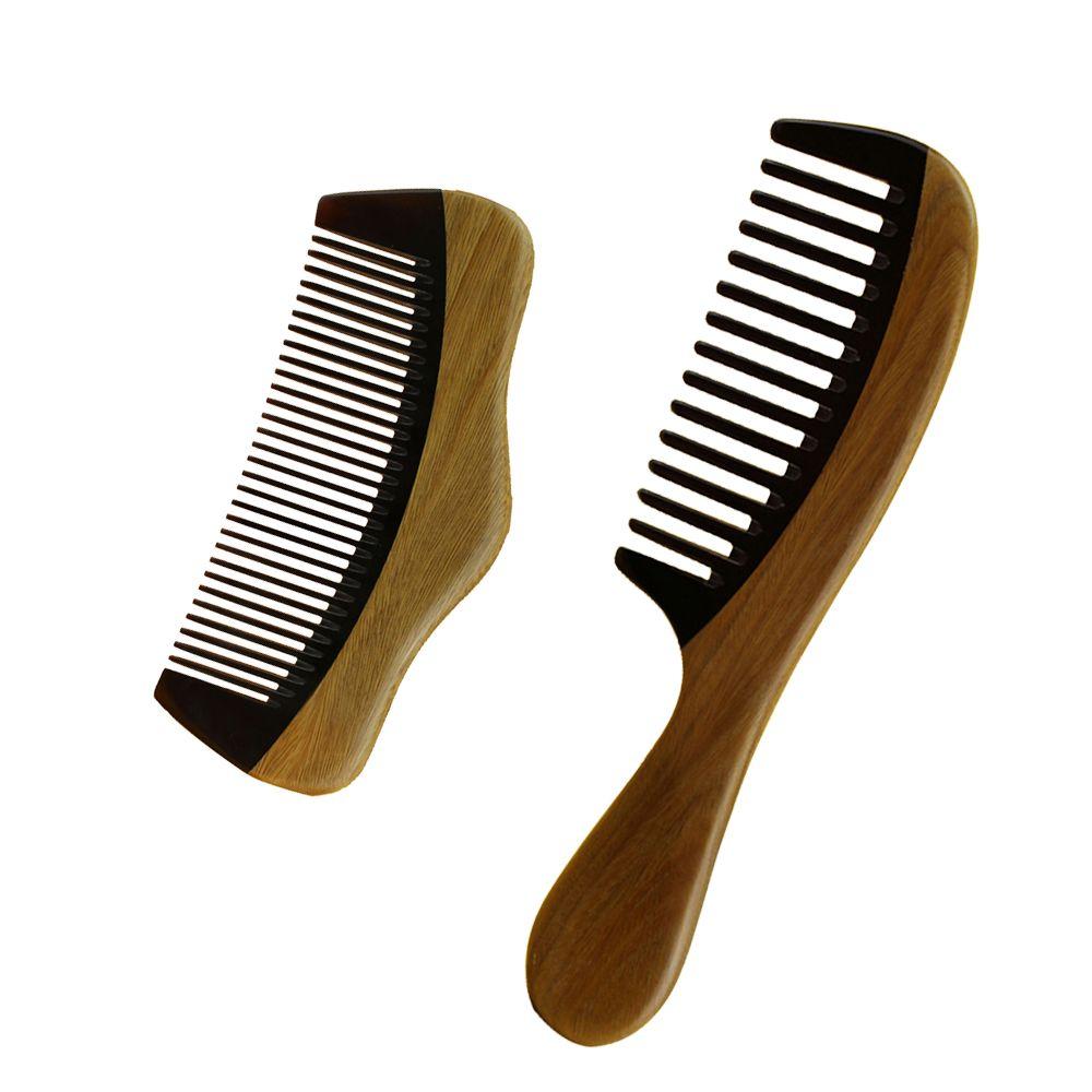Hair Comb Brush Kit Tangle Hair Brush Wide Fine Tooth Handmade Hair Care Styling Tool Massage Anti Static Hairloss Men Women Home Travel