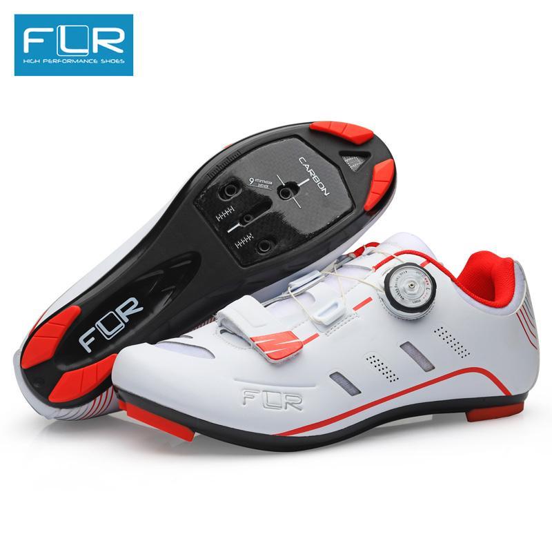 innovative design 25bc0 632f6 FLR scarpe da ciclismo strada carbonio bici da strada scarpe da corsa da  uomo sneakers da uomo adulto professionale traspirante ultraleggero rosso  ...