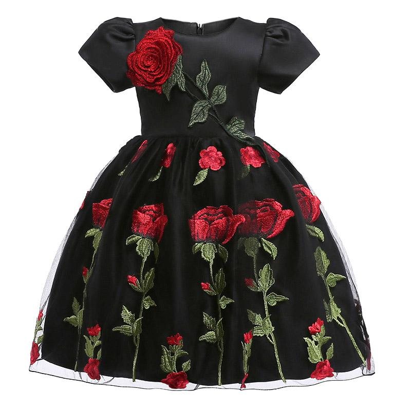 ball gown flower Girls Dresses autumn winter baby girls clothes Fashion children's clothing for 2-8 yrs girl Birthday Christmas vestidos