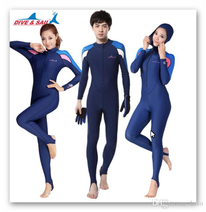 2019 Lycra Scuba Dive Skins For Men Or Women UPF50+ Snorkeling Equipment  Swim Stinger Water Sports Suits Jumpsuit Swimwear Wetsuit Rash Guards From  Heto 68b9435d3