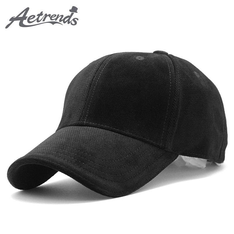 46aaccebd [AETRENDS] Luxury Brand Cotton Velvet Baseball Caps for Men Women Sport  Hats Polo Hat Trucker Cap Dad Hat Winter Outdoor Z-3023
