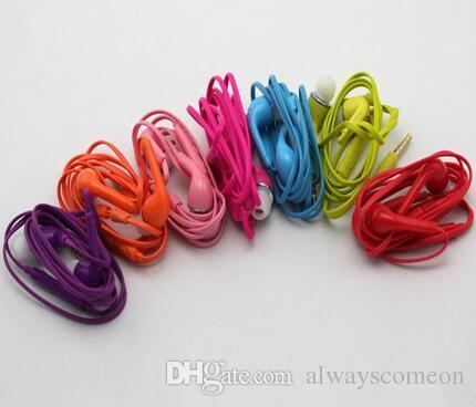 Renkli J5 Kulaklık 3.5mm Ses Kontrolü Kulaklık Kulaklık Mic ile Paket Olmadan Samsung için Evrensel Kulaklıklar sıcak satış.