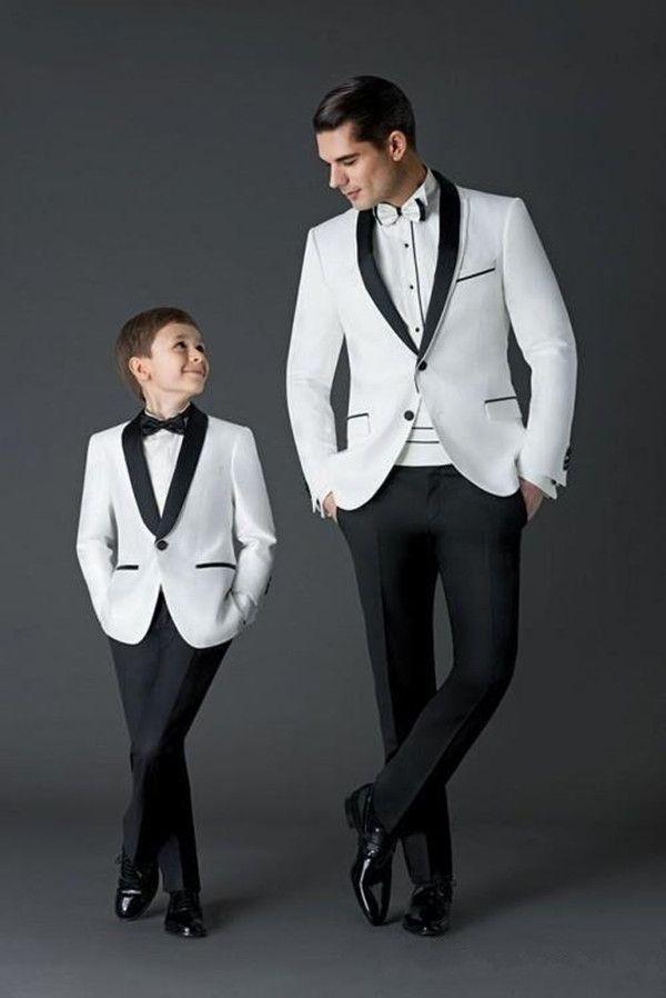 Black White Wedding Men Suits Slim Fit Bridegroom Tuxedos For Men Two Pieces Groomsmen Suit Cheap Formal Business SuitJacket+pant