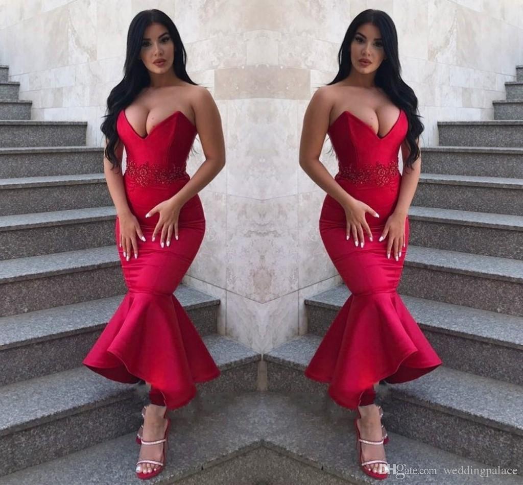 8e22799d4 Compre Vestidos De Noche Hermosos Con Cariño Sirena Vestidos De Baile 2019  Apliques Vestidos De Noche Largos Y Rojos Vestidos Especiales Para  Ocasiones ...