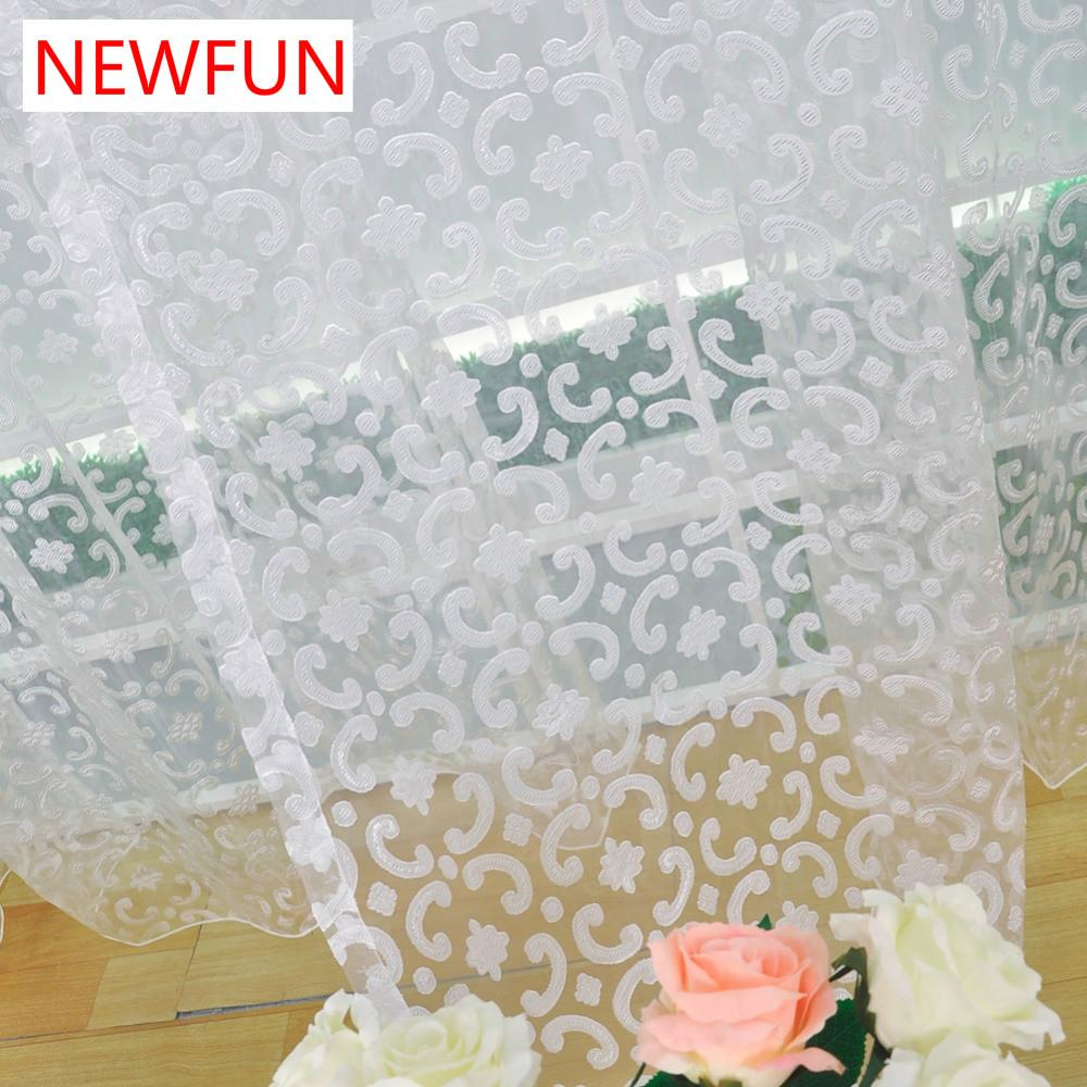 2019 Modern Style Jacquard Design Tulle Fabric For Curtains Bedroom