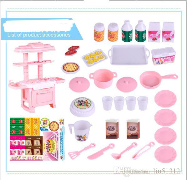 High Quality Mini Cute Simulation Household Tableware Set Mini Kitchen Toys for Girls Free Shipping