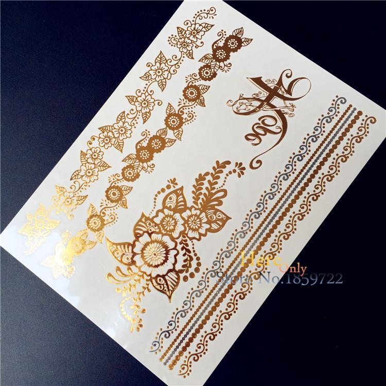 Tatouage Taty Gold Golden Silver Tattoo Women Henna Hys 99 Lace