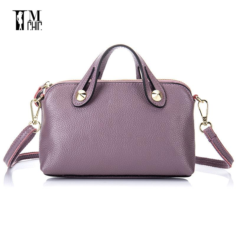 81af0f6426 2017 Soft Genuine Leather Unique Design Women Messenger Bags Ladies Small  Shoulder Handbags Woman Crossbody Black Red Gift Girls Leather Satchel Ladies  Bags ...