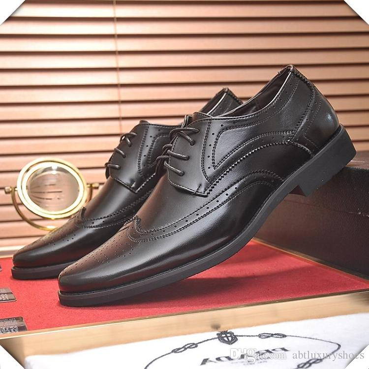 f3ebcdb30d Formal Dress Shoes for Men Genuine Leather Fabric Lace Up Work Comfortable  Flats Moccasins Loafers Oxford Floral Design Wedding Shoes