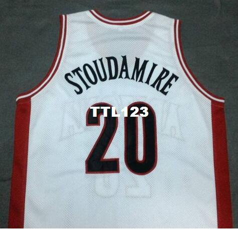 5d875a2d6c6 2019 Men #20 DAMON STOUDAMIRE Arizona Wildcats White Red College Vintage Jersey  Size S 4XL Or Custom Any Name Or Number Jersey From Ttl123, $15.95 | DHgate.