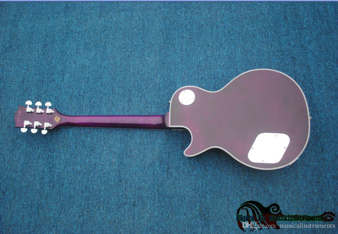 Custom Shop Purple Stave Electric Guitar High Quality OEM China Best Selling HOT