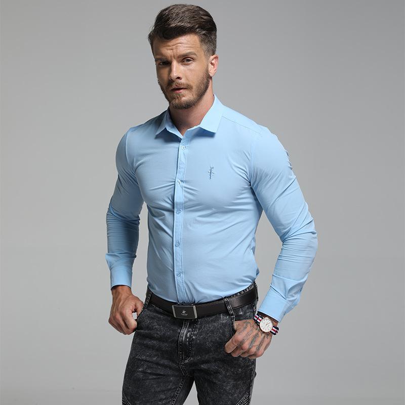 18bd76679a8 BUT Z shirts men s shirts men s long sleeved casual custom business attire