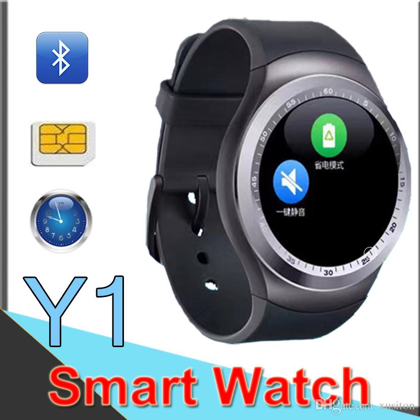 Y1 Smart Watchs for Android Smartwatch Samsung Cell Phone Watch Bluetooth for Apple Iphone with Retail Package Factory Outlet EY1 50 Packs