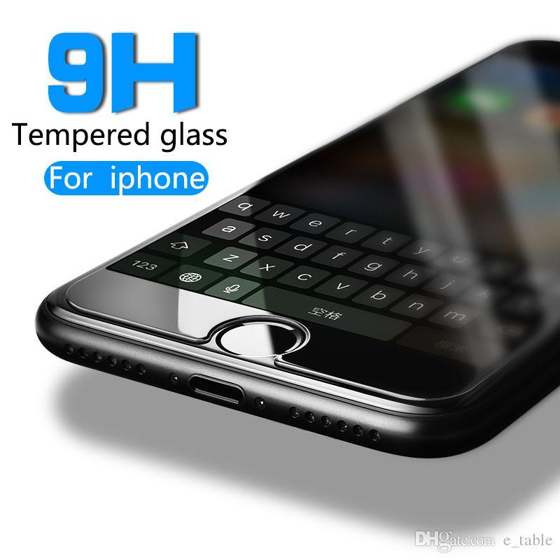 9 H Gehärtetem Glas Für Iphone X 6 6 S Plus 7 Plus Displayschutzfolie Schutzfolie Film Case Abdeckung Sauber Kits