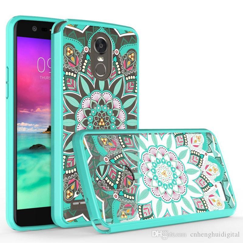 Estuches para teléfonos Acrílico Transparente Colorured para Motorola Motogporwer2021 ZTE Blade V2021 5G 20Pro5G LG Aristo6 Back Cover Oppbags