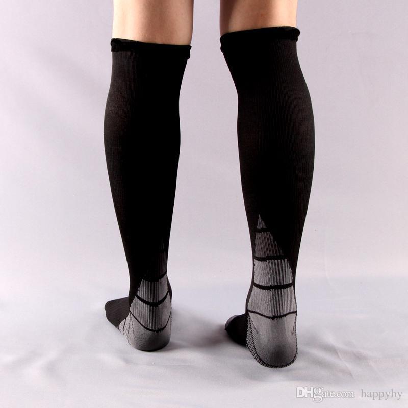 Men&women Compression Socks Pressure Circulation by Best For Flight Travel-Suits Nurses Anti-Fatigu Knee High Support Stocking