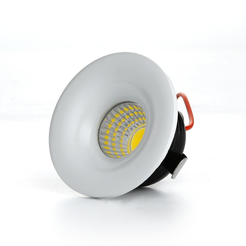 RAYWAY Dimmable LED Downlight Mini 3W Recessed COB Down Light AC85-265V LED Ceiling Lamp White/Warm Wardrobe Light